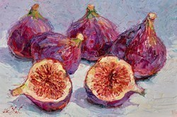Purple Figs III by Lana Okiro -  sized 9x6 inches. Available from Whitewall Galleries